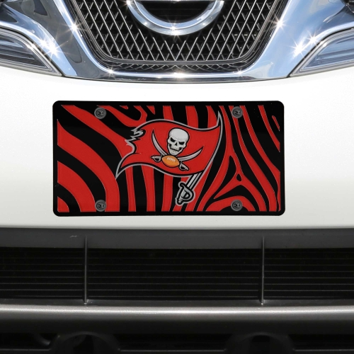Tampa Bay Buccaneers Zebra Acrylic Cut License Plate - No Size