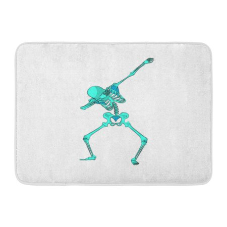 GODPOK Stock Green Skeleton Character Dancing Dab Step Fashionable Hip Hop Pose Meme for for Happy Halloween Rug Doormat Bath Mat 23.6x15.7 inch (Halloween Meme Generator)