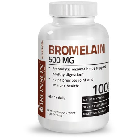 Bromelain 60 Tablets - Bronson Bromelain 500 mg Immune Support, 100 Tablets