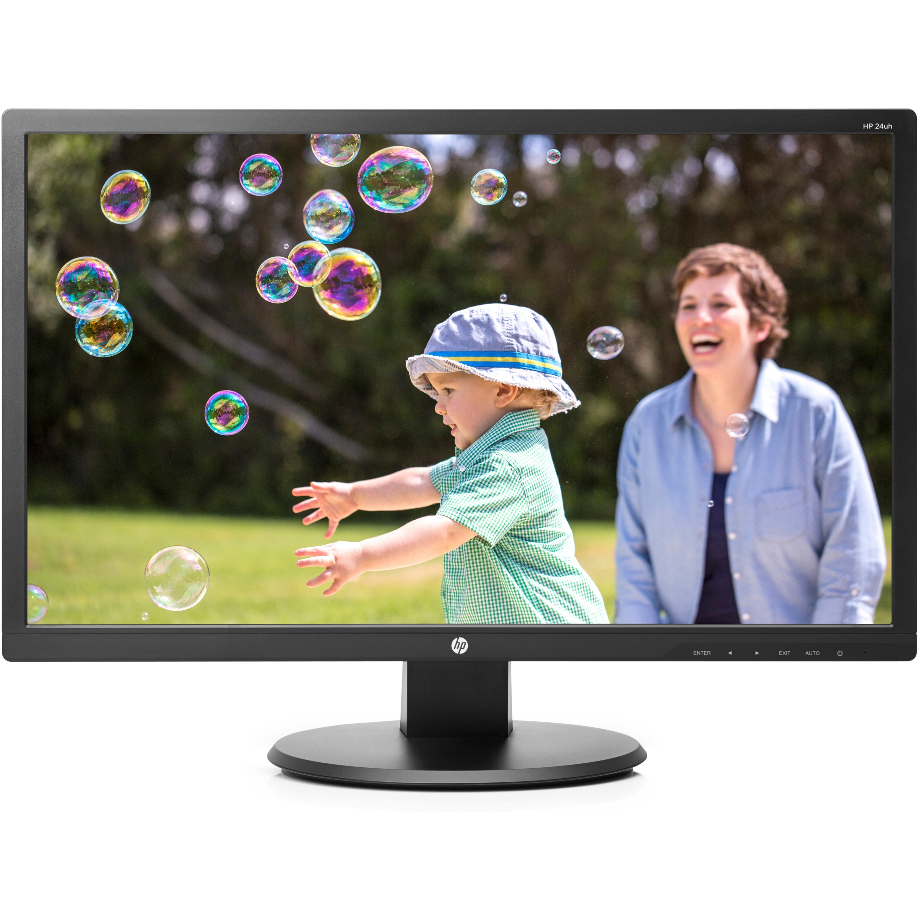 """HP 24uh 24"""" FHD LED Backlit Monitor 23 Watts w  HDMI Port (Energy Star) by HP"""
