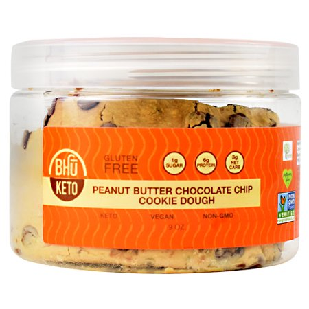 Bhu Foods Bhu Cookie Dough Peanut Butter Chocolate Chip Cookie Dough - Gluten Free ()