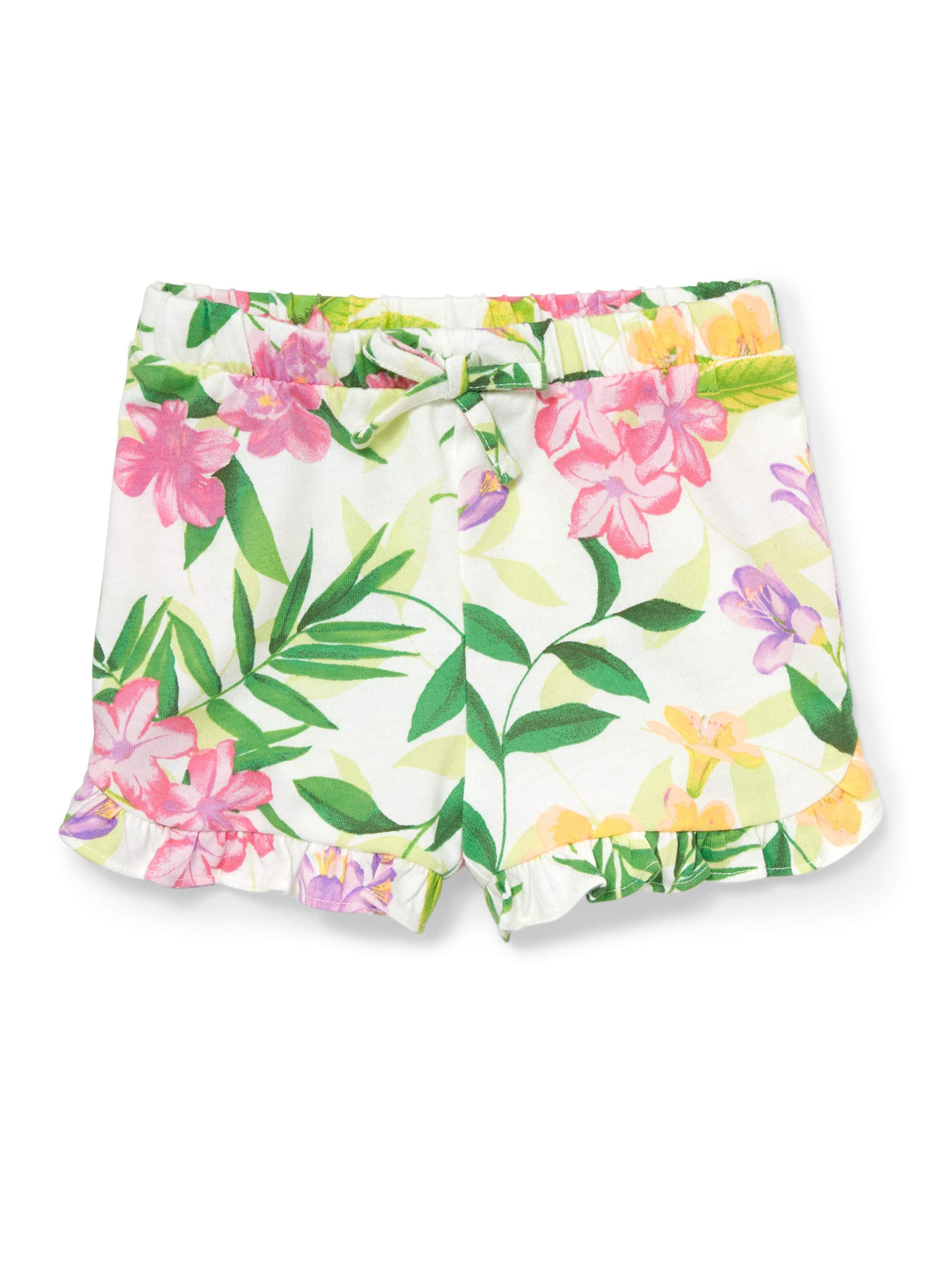Children's Place Toddler Girls' Tropical Floral Knit Shorts