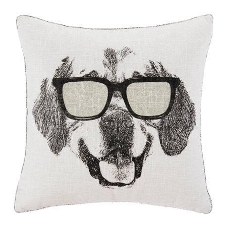 Mainstays Dog Metallic Decorative Throw Pillow, 18