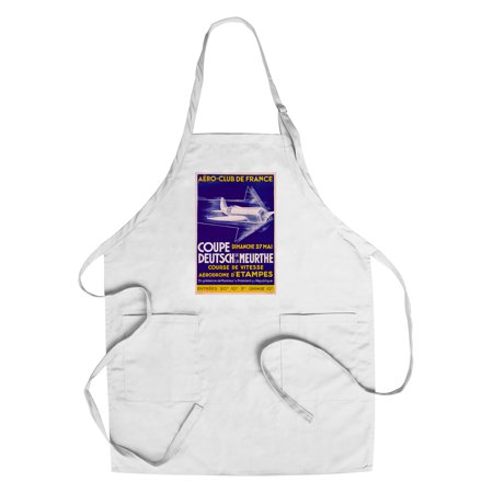 Aero - Club de France - Coupe Deutsch de la Meurthe Vintage Poster (artist: Besson) France (Cotton/Polyester Chef's Apron) (Vantage Coupe)