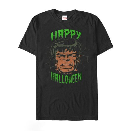 Cute Happy Halloween Logo (Marvel Men's Happy Halloween Hulk)