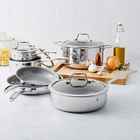 J.A. Henckels International RealClad Stainless Steel 10-piece Cookware Set