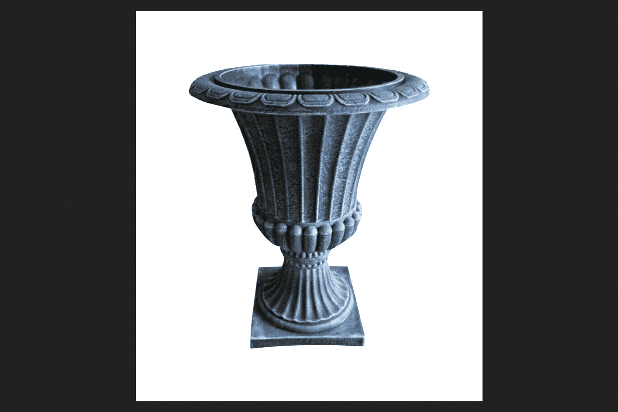 Infinity Gray Poly Ornate Urn Planter 16 in. by Infinity