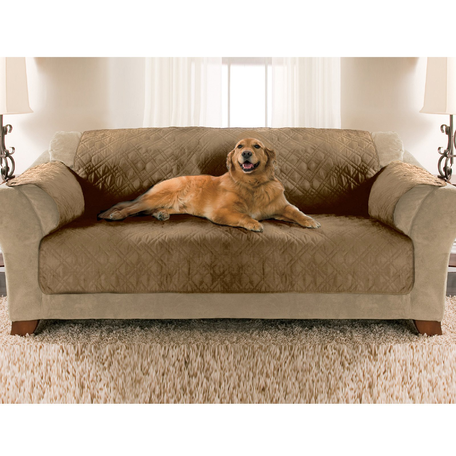 Paws & Claws Sofa Size Quilted Micro Suede Furniture Protector