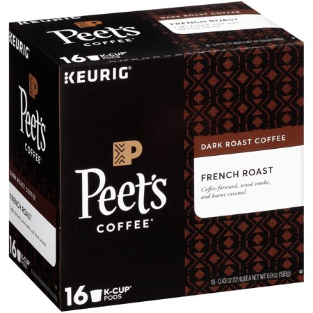 K-cup French Roast Coffee (Peet's Coffee French Roast K-Cup Coffee Pods, Dark Roast, 16 Count)
