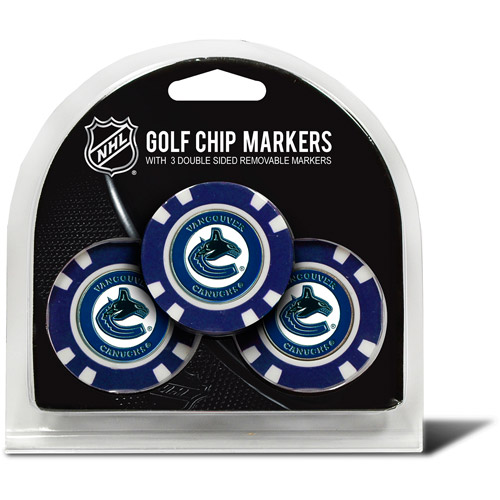 Team Golf NHL Vancouver Canucks 3 Pack Golf Chip Ball Markers