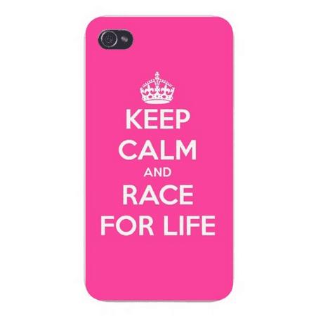 Apple Iphone Custom Case 4 4s Snap on - Keep Calm and Race For (Rare Snap)