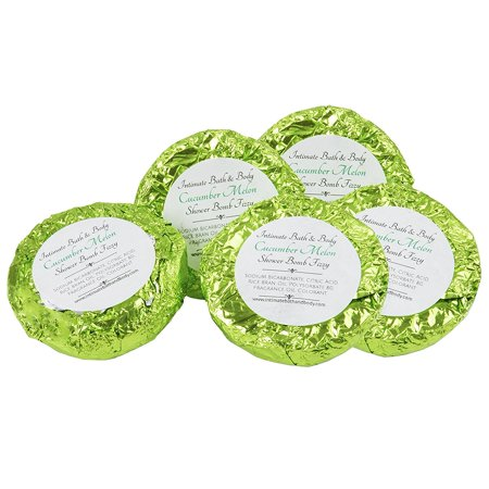 - Shower Bomb Fizzies! 5 Pack Aromatherapy Shower Steamers - Cucumber Melon