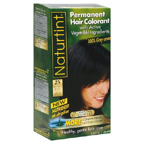 Naturtint Permanent Hair Colorant  2N Brown Black - 5.28 Oz