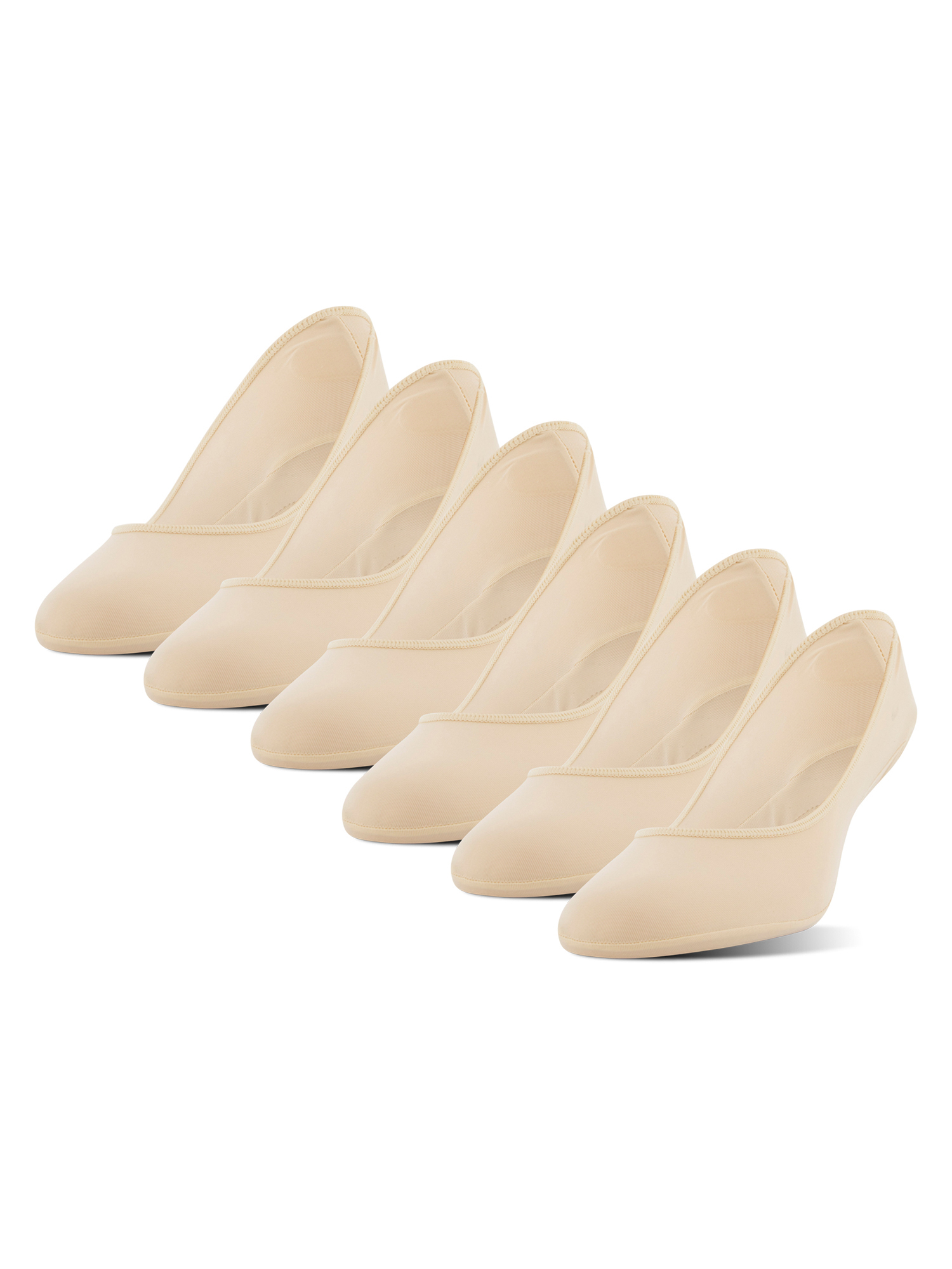 Women's Ultra Low Cut Contoured Pad Liner with Gel Tab, 6 Pairs