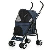 Pet Stroller Dog Cat Puppy Jogger Pushchair Travel Carrier Pram Wheels 58*35*98CM/22.8*13.7*38.5inch