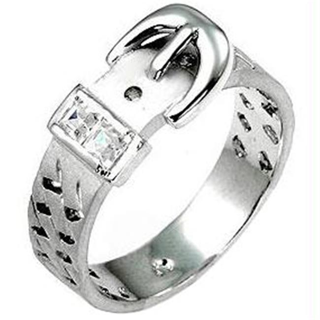 Silver Buckle Ring, <b>Size :</b> 05