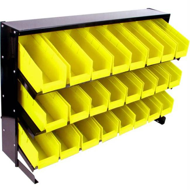 Stalwart 24 Bin Parts Storage Rack Trays