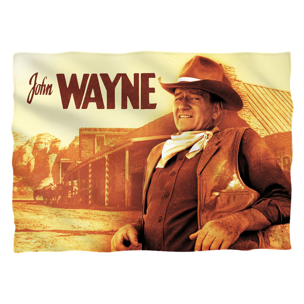 John Wayne Old West Poly 20X28 Pillow Case White One Size