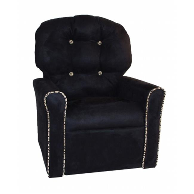 Dozydotes 18001 Kids Accent Rocker Recliner, Black & Cheetah