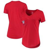 FC Dallas Concepts Sport Women's Unwind Pocket V-Neck T-Shirt - Red