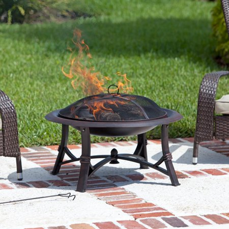 Fire Sense Augusta 30 in. Wood Burning Fire Pit (Gas Fires That Look Like Wood Burning Stoves)