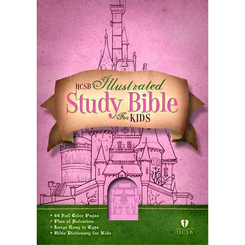 HCSB Study Bible for Kids: Girls Pink Leather Touch