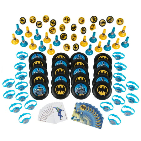 Batman Super Mega Party Favor Value Pack, 100pc - Batman Party Plates