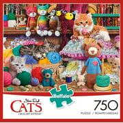 Buffalo Games Cats Series Crochet Kittens 750 Piece Jigsaw Puzzle