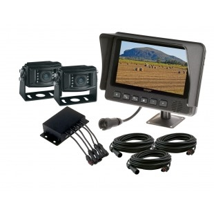 """Jensen Voyager VOSHDCL2B 7"""" Waterproof LCD Monitor Two Ca..."""