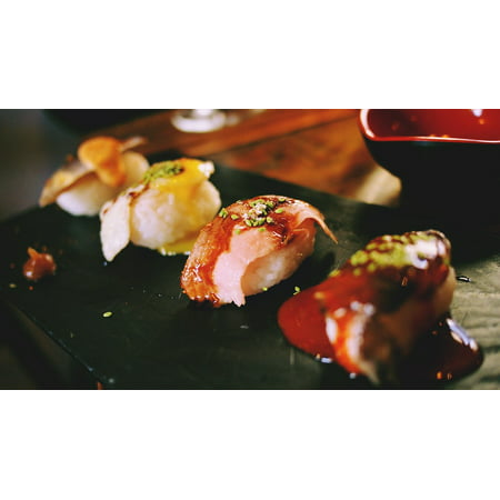 LAMINATED POSTER Fusion Restaurant Cuisine Food Tasty Sushi Poster Print 24 x