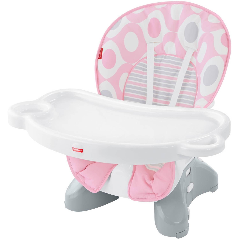 Fisher Price SpaceSaver High Chair Pink Ellipse Walmart