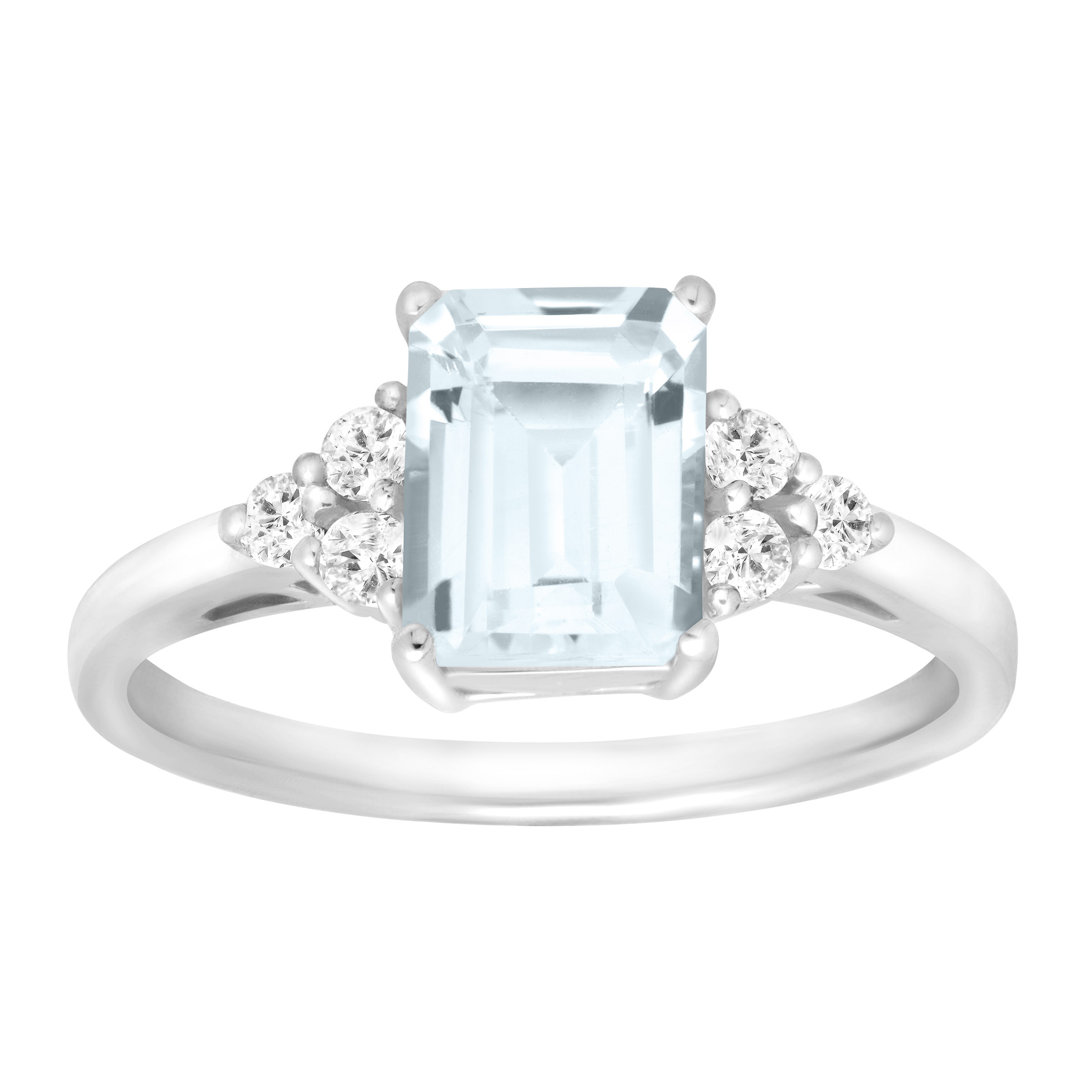 1 5 8 ct Natural Aquamarine & White Topaz Ring in Sterling Silver by Richline Group