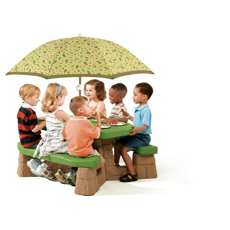 Step2 Naturally Playful Kids Picnic Table with 60-inch Umbrella (Childs Picnic Table)