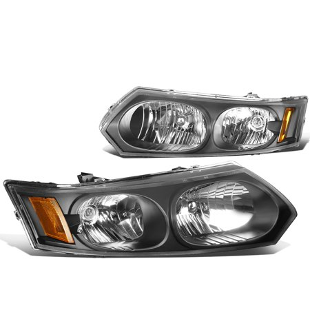For 2003 to 2007 Saturn Ion Headlight Black Housing Amber Corner Headlamp 04 05 06 Sedan - Saturn Aura Sedan