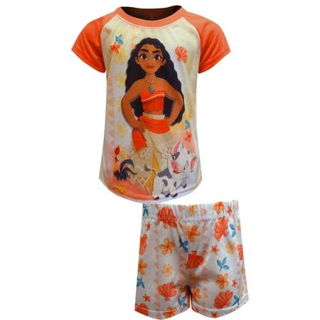 Girls' Moana 2 Piece Pajama Sleep Set (Little Girl & Big Girl)