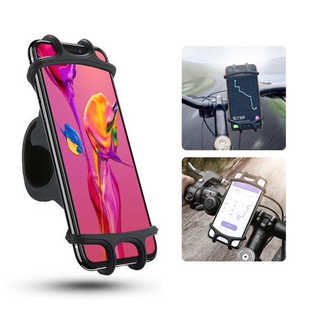EEEKit Bike Phone Mount, Universal Adjustable Silicone Bicycle Phone Holder for Cycling GPS/Map/Time/Music, Fit for iPhone 11/11 Pro XS/XR/8/8 Plus, Samsung Galaxy S9/S8,