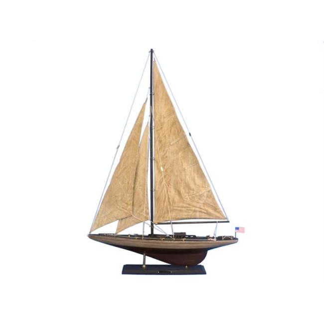 Handcrafted Model Ships RAN-R-35-RUSTIC Wooden Vintage Ranger Limited Model Sailboat Decoration 35 inch by Handcrafted Model Ships
