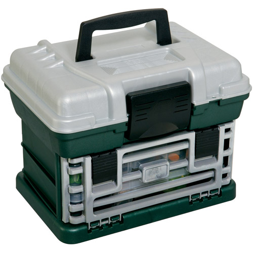 Plano Fishing Tackle Box, Two-By Rack System, Tackle Box, Metallic Green/Silver