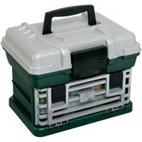 Plano Fishing Tackle Box, Two-By Rack System Metallic Green/Silver
