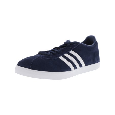 Adidas Women's Courtset Collegiate Navy / Footwear White Metallic Gold Ankle-High Suede Fashion Sneaker -