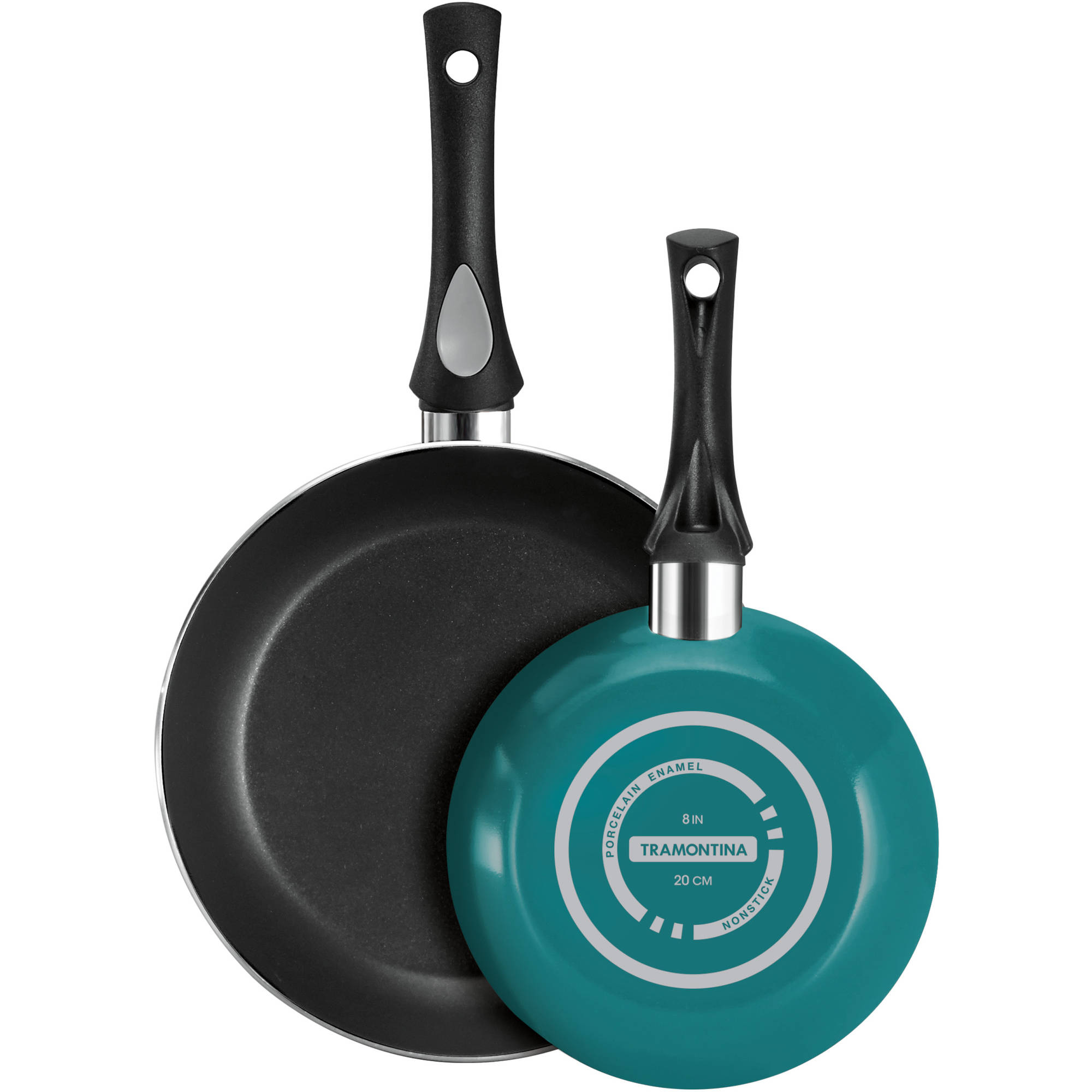 Tramontina 2-Pack Nonstick Aluminum Fry Pan Set, Teal