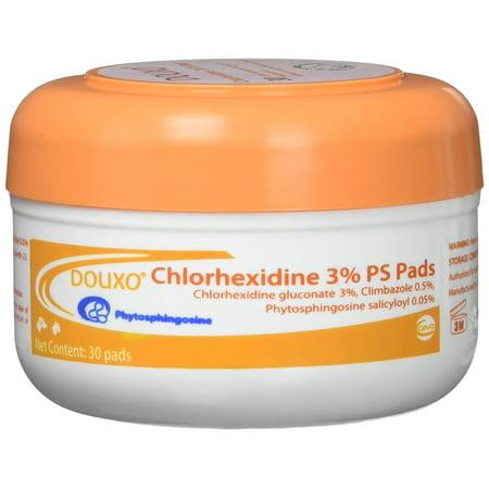 Sogeval Douxo 30 Count Chlorhexidine 3-Percent PS (Douxo Chlorhexidine 3 Ps Pads For Dogs)