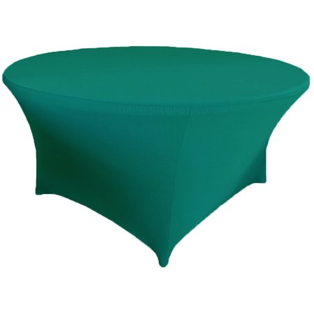 Wedding Linens Inc. Wholesale (200 GSM) 6 FT (72 in) Round Spandex Stretch Fitted Table Cover Tablecloths - Oasis