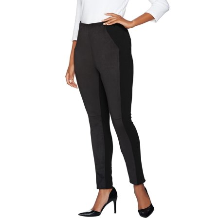 Kelly Clinton Kelly Reg Pull-On Ponte Pants Faux Suede A283411