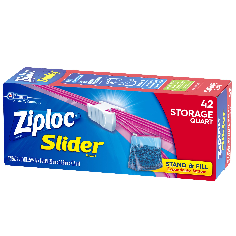 Ziploc Slider Storage Bags Quart 42 Count