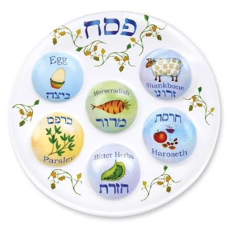 Passover Seder Plate Deluxe Quality Plastic 10