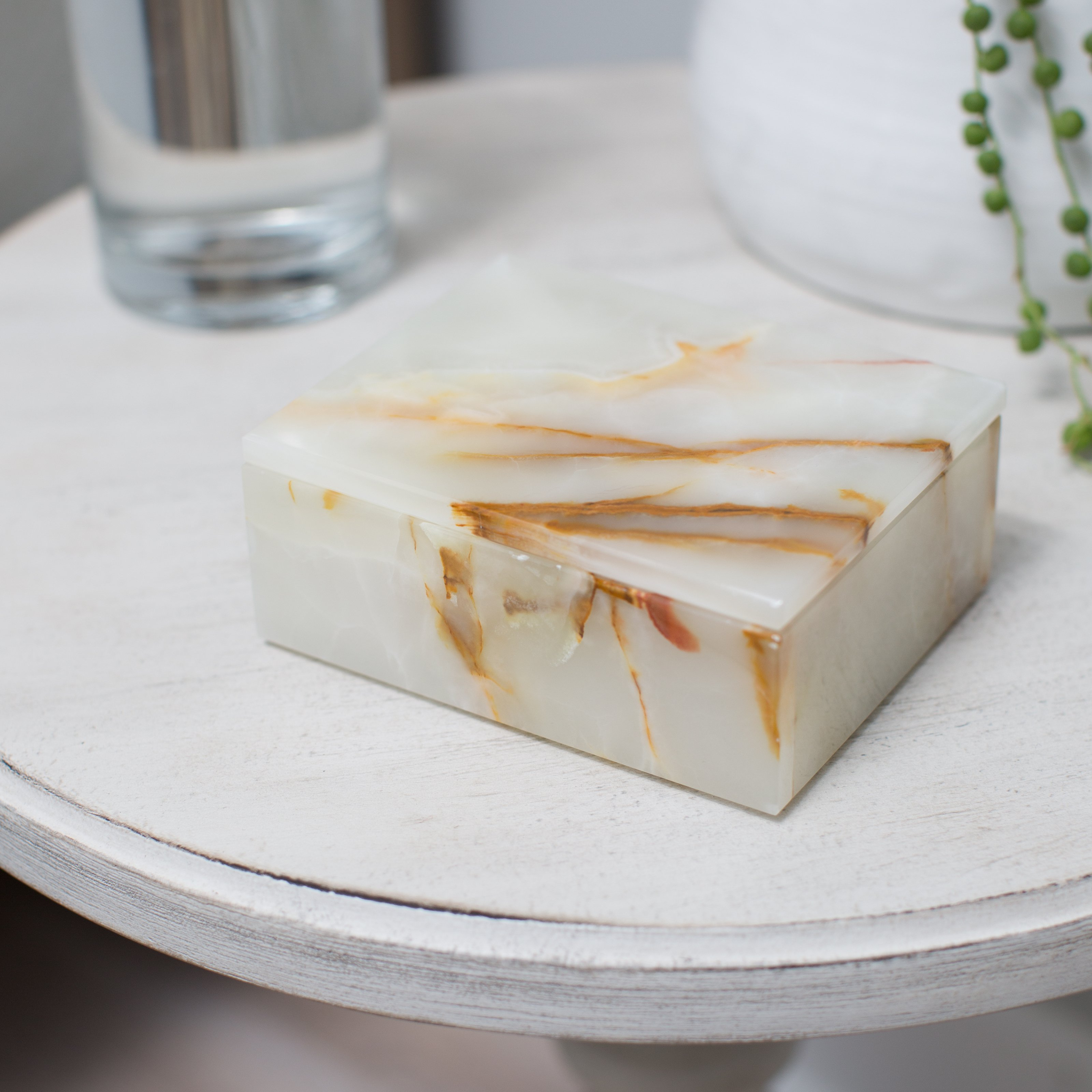 Designs By Marble Crafters Asteria Keepsake Box with Removable Lid