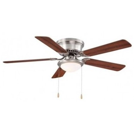 Hampton bay hugger 52 in brushed nickel ceiling fan by hampton bay