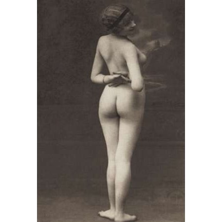 Three-Quarter Pose in Stormy Setting Poster Print by Vintage (Best Poses For Nudes)