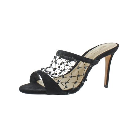 Schutz Womens Moriah Leather Crystals Mules